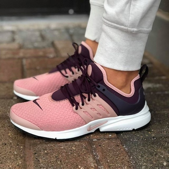 Nike Pink + Burgundy Air Presto Sneakers 18297a61fa16